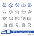 Hosting icons outline series vector