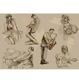 Musicians - an hand drawn pack vector