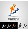 Delivery logo design template courier or package vector