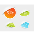Colored stickers vector