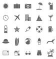 Summer icons on white background vector