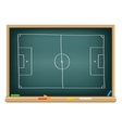 Soccer field on the blackboard vector