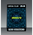Night party networking poster vector