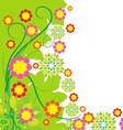 Springtime greeting card flower background vector