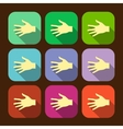 Set of flat icon hands eps vector