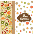 Bon appetite card with fruits vector