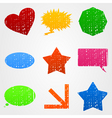 Shapes icons vector