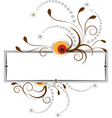 Banner with the curves and beads vector