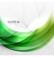Abstract green wave swirl background vector