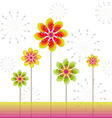 Springtime greeting card abstract flower vector