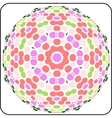 Circular colorful pattern vector
