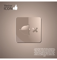 No sound symbol as a button vector