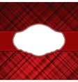 Tartan red vintage card vector
