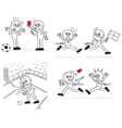 Referee and soccer player set vector