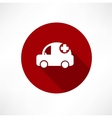 Medical car icon vector