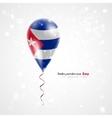 Flag of cuba on balloon vector