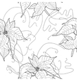 Seamless pattern with black and white vector