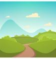Summer cartoon landscape vector