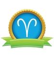 Gold aries logo vector