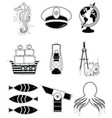 Nautical elements 3 sticker style vector