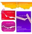 Colorful banners torn paper vector