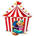 Circus clown tent vector