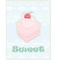 Lovely cake - vintage card design vector