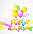 Colorful background of birthday vector