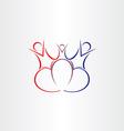 Family love symbol design vector