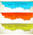 Torn paper banners with space for text vector