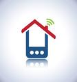 Blue phone house vector