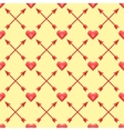 Seamless pattern of with polygonal hearts and vector