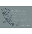 Tiger poems of william blake color card vector