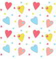 Romantic background with hearts vector