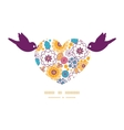 Colorful oriental flowers birds holding vector