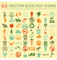 Environment ecology icon set environmental risks vector