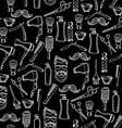 Seamless pattern background barber shop vector