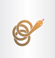 Brown snake stylized pharmacy symbol vector