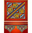 Ornament red carpet vector