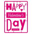 Typographic valentines day card vector