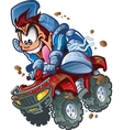Wild atv quad rider vector