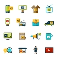 Advertising icons set vector