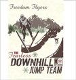 Jump hill vector