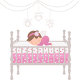 Little angel sleeping vector