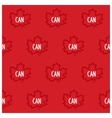 Canadian maple seamless pattern vector