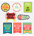 Bicycle club color vector