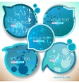 Blue paper round bubble for speech vector