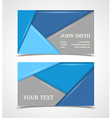 Blue and gray modern business card template vector
