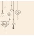Key to heart vector