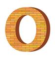 Brick letter o vector